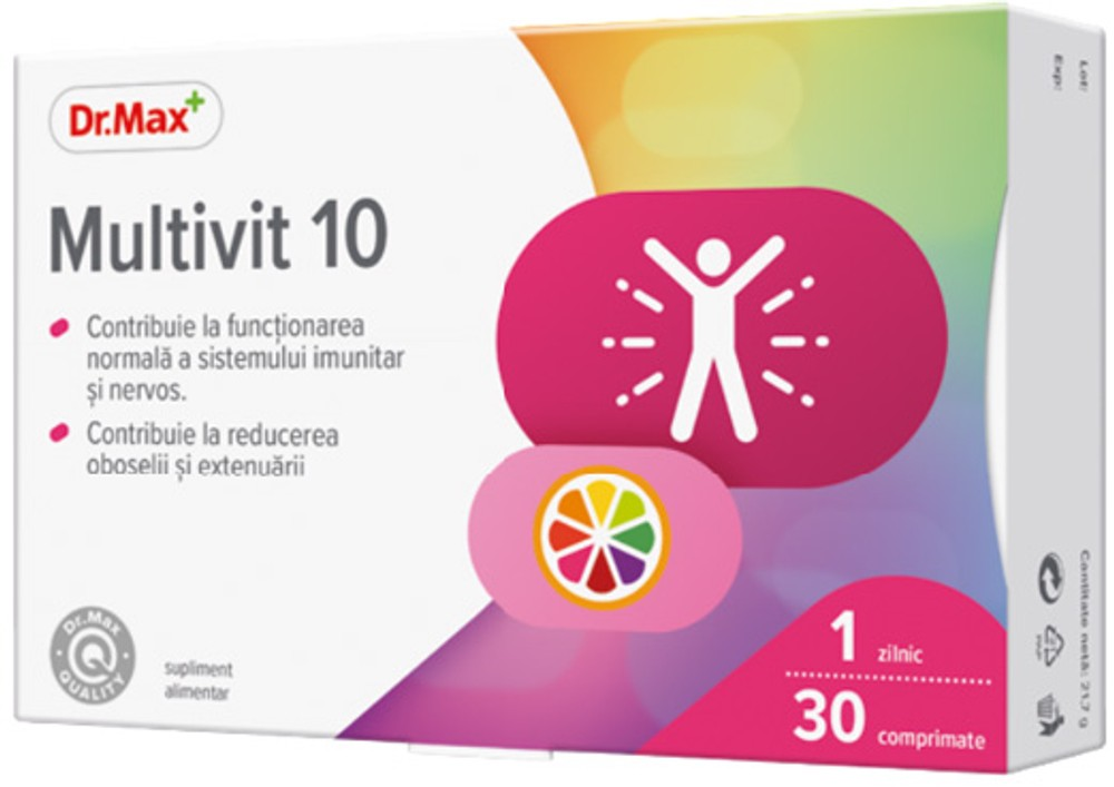 Dr.Max Multivit 10, 30 comprimate imagine produs 2021