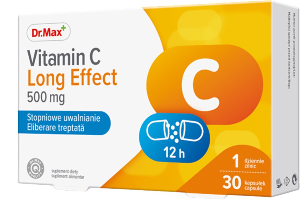 Dr.Max Vitamina C long effect 500 mg, 30 capsule drmax poza
