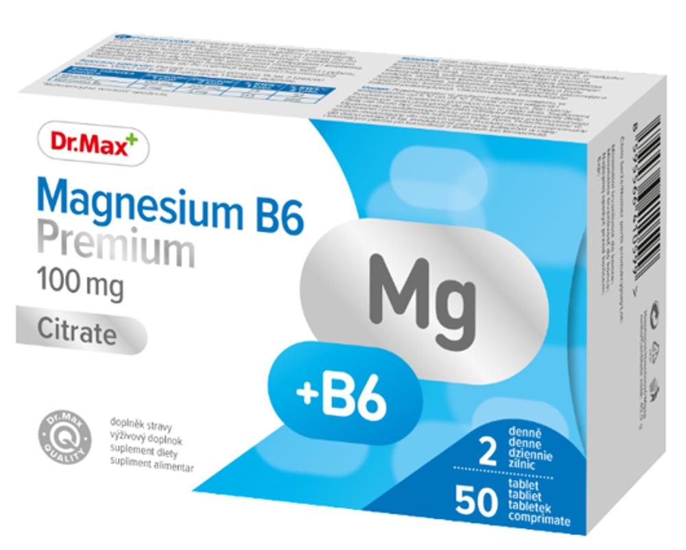 Dr.Max Magnesium B6 Premium, 50 comprimate imagine produs 2021