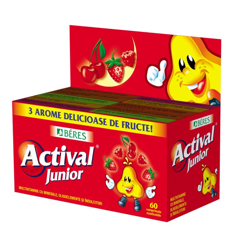 Actival Junior, 60 comprimate masticabile, Beres