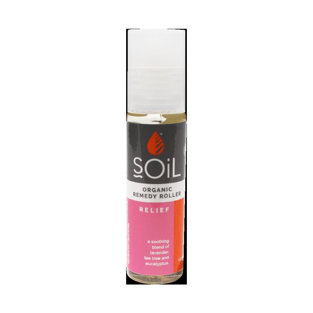 Roll-On Relief cu uleiuri esentiale pure organice ECOCERT, 11ml, Soil imagine produs 2021