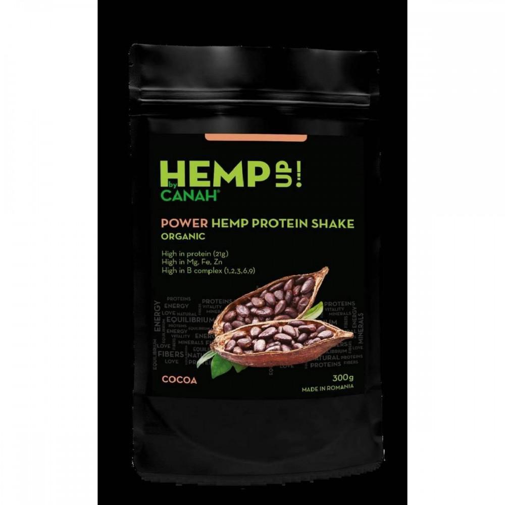 Power shake proteic de canepa si cacao ECO, 300g, Canah drmax poza