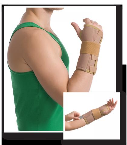 Orteza pentru incheietura mainii (cu atela de metal) 8551, 14-19cm, S/M, Bej, Medtextile drmax.ro