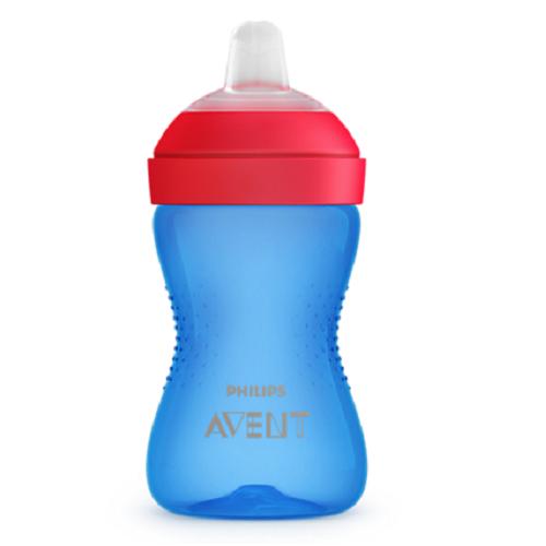 Cana cu tetina moale de formare albastru/rosu, 300ml, Philips Avent imagine produs 2021