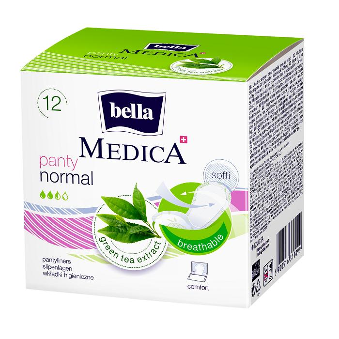 Absorbante zilnice Medica Panty Normal, 12 bucati, Bella drmax.ro