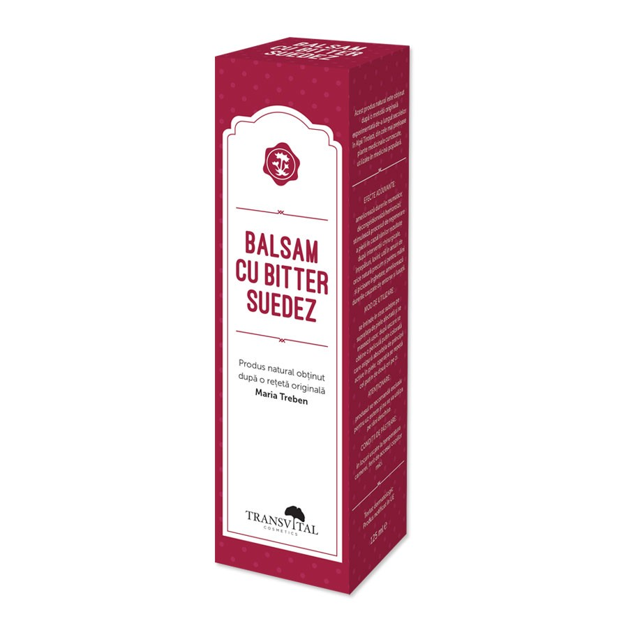 Balsam cu bitter suedez, 125ml, Transvital imagine produs 2021