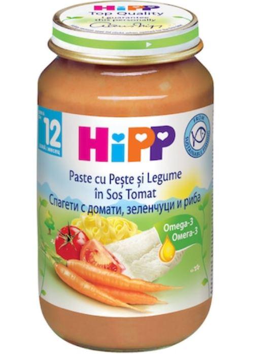 Paste Bio cu peste si legume in sos de rosii de la 12 luni+, 220g, Hipp imagine produs 2021