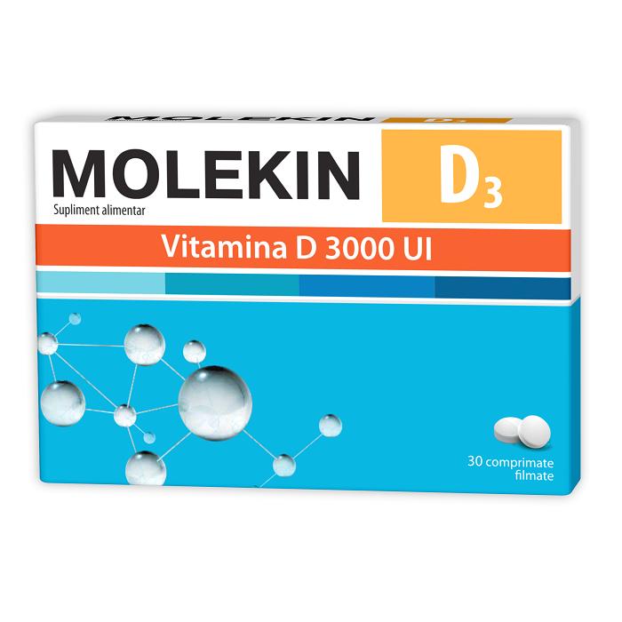 Molekin D3 3000IU, 30 comprimate, Zdrovit drmax poza