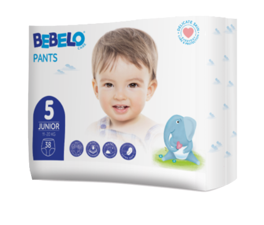 Bebelo Scutece chilotel Junior nr. 5, 38 bucati imagine produs 2021