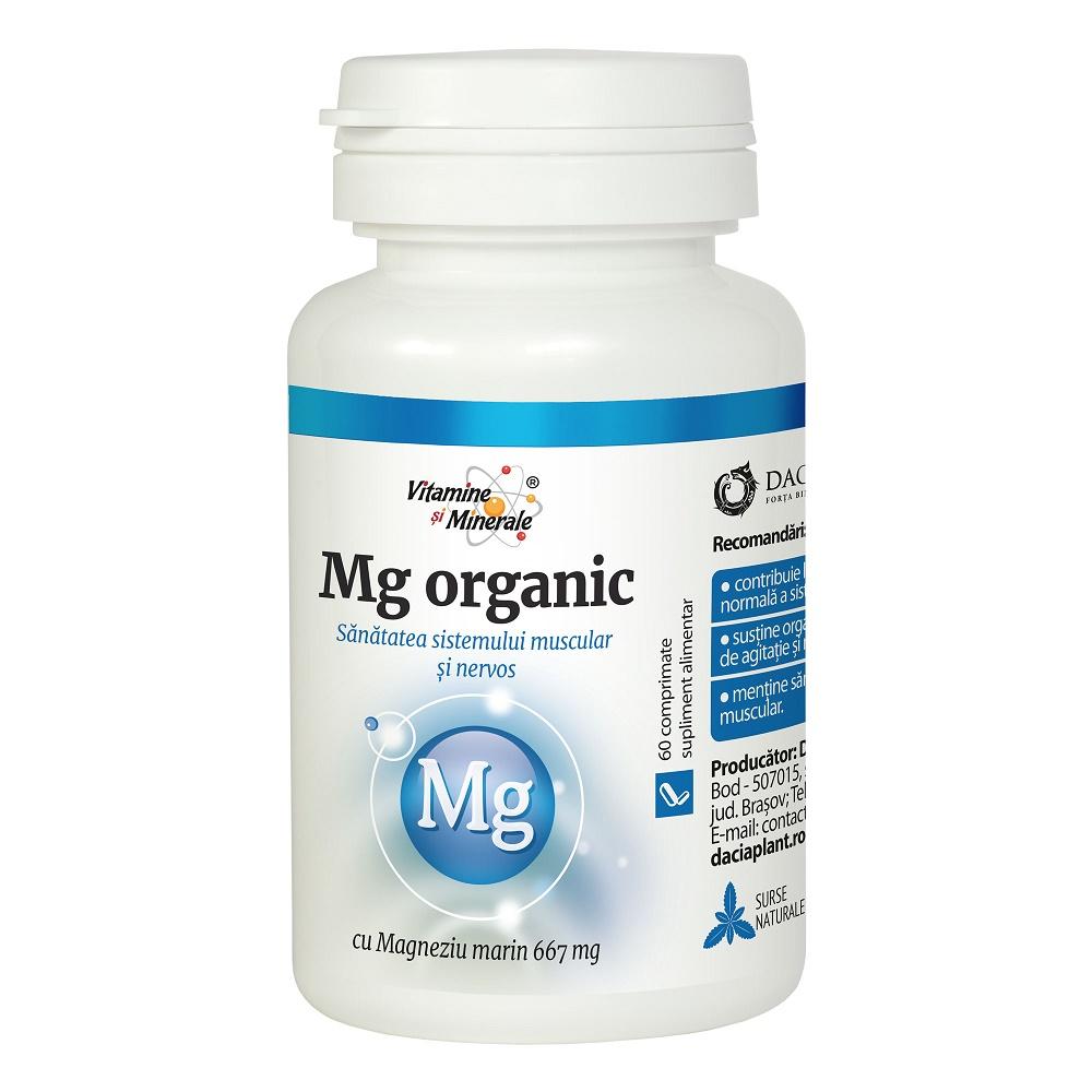 Magneziu Organic, 60 comprimate, Dacia Plant drmax.ro