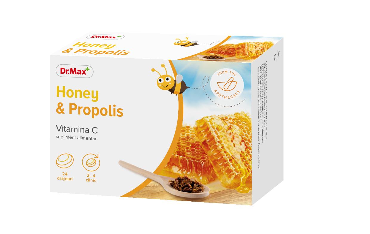 Honey&Propolis, 24 drajeuri, Dr.Max imagine produs 2021