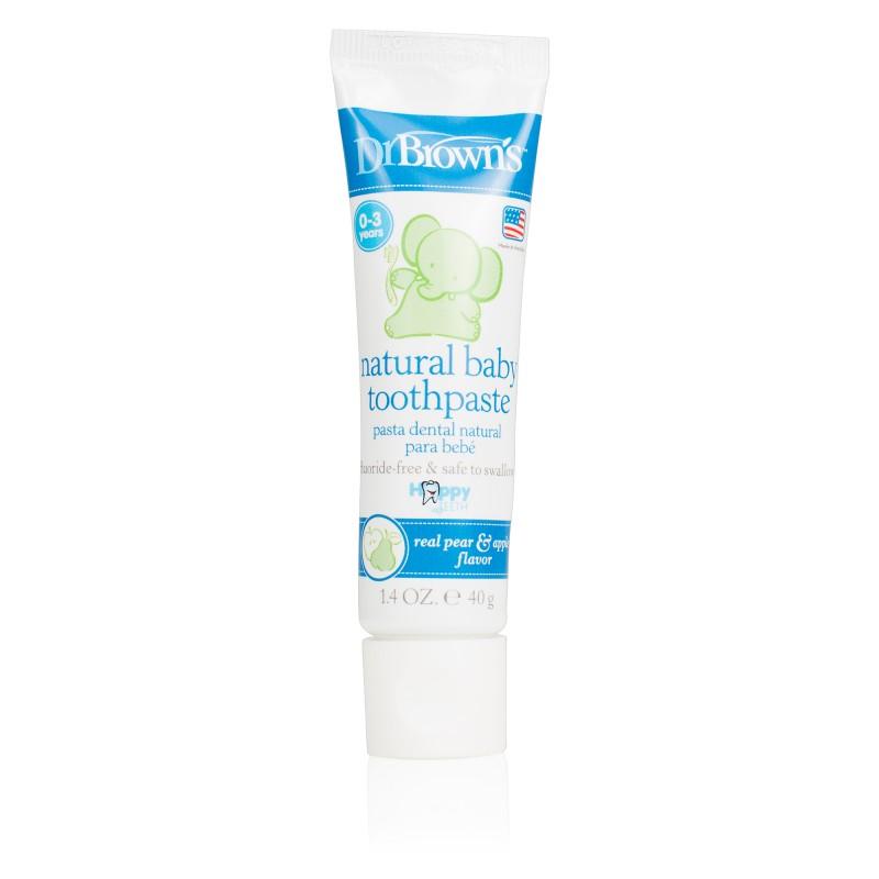 Pasta naturala de dinti pentru copii cu aroma de para si mar, 40g, Dr. Brown's drmax.ro