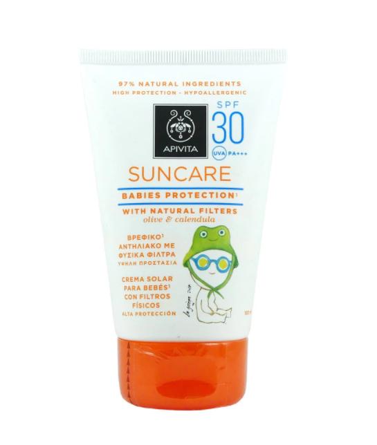 Crema cu protectie solara pentru copii SPF30, 100ml, Apivita drmax poza