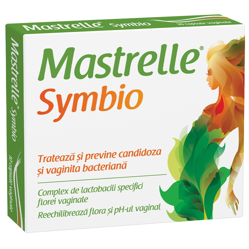 Mastrelle Symbio, 10 capsule vaginale, Fiterman imagine produs 2021