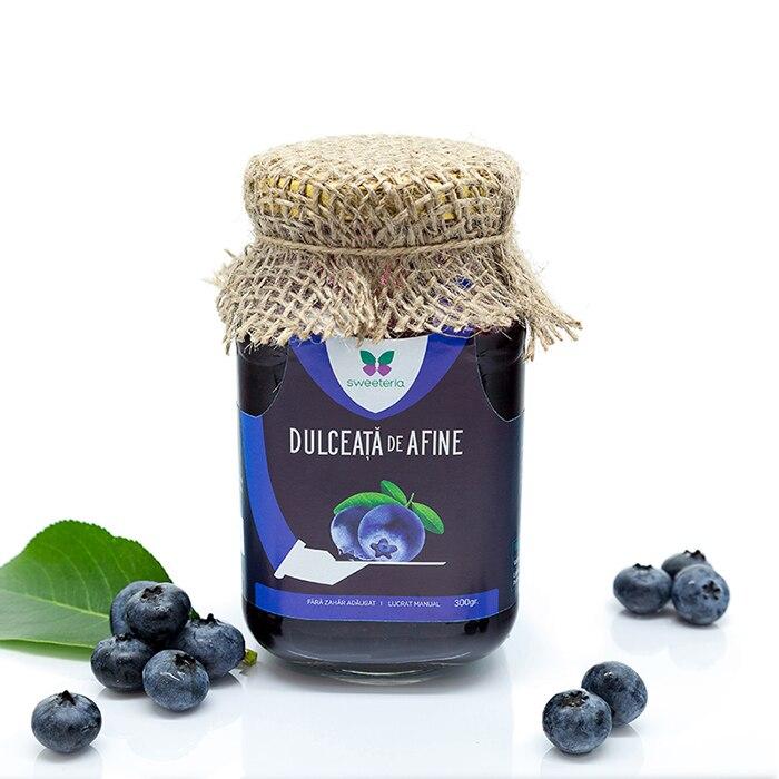 Dulceata de afine fara zahar, 300g, Sweeteria drmax.ro