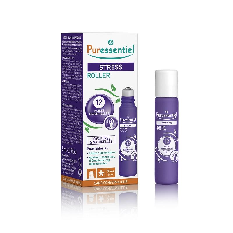 Stress - Roll-on Bio antistres cu 12 uleiuri esentiale, 5ml, Puressentiel imagine produs 2021