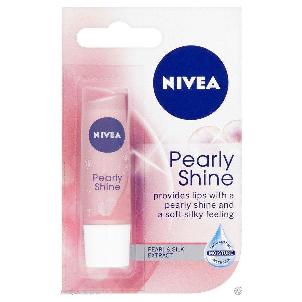 Balsam pentru buze Pearly Shine, 4.8g, Nivea imagine produs 2021