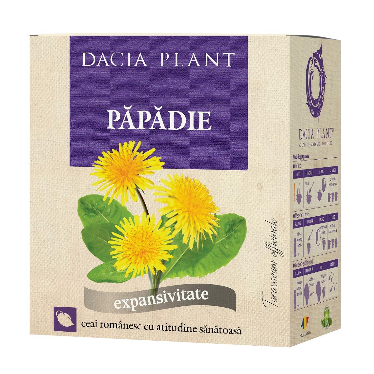 Ceai de papadie, 50g, Dacia Plant drmax.ro