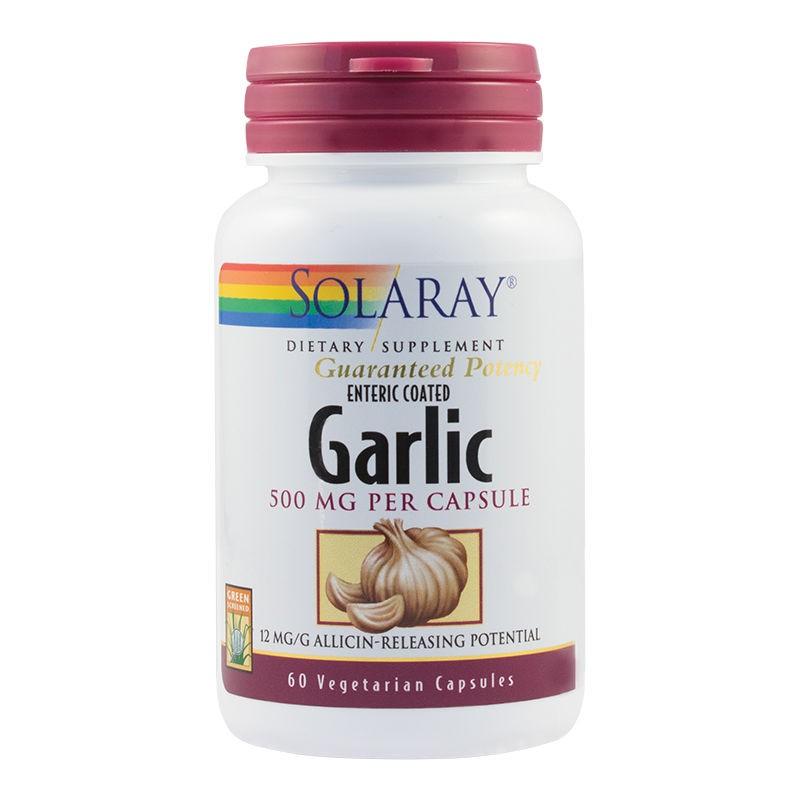 Garlic (Usturoi) 500mg Solaray, 60 capsule, Secom imagine produs 2021