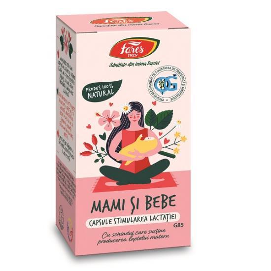 Stimularea lactatiei Mami si Bebe G85, 60 capsule, Fares drmax.ro