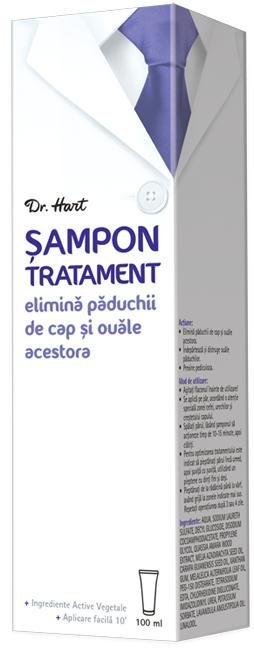 Dr.Hart Sampon Anti Paduchi*100 Ml la preț mic imagine