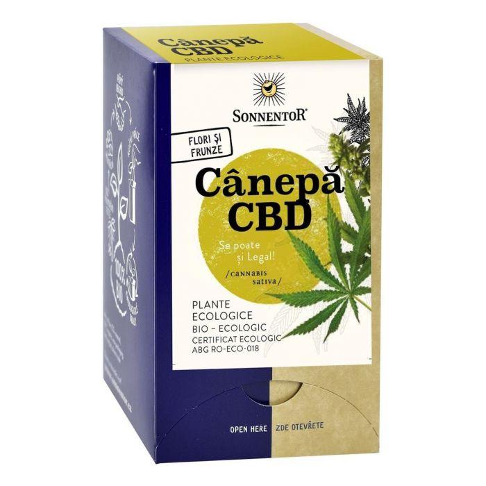 Ceai Bio Canepa CBD, 18 plicuri, Sonnentor drmax.ro