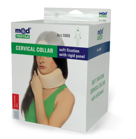Guler cervical cu fixare usoara si tija de sustinere Nr. 1, 1 bucata, MedTextile drmax.ro