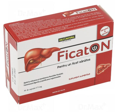 FicatON, 30 capsule, Only Natural drmax.ro