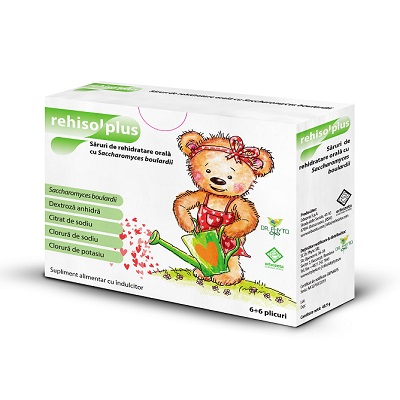 Saruri de rehidratare Rehisol Plus, 6 + 6 plicuri, Dr. Phyto drmax poza