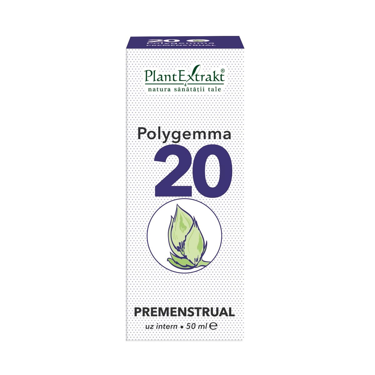Polygemma 20 Premenstrual, 50ml, Plant Extrakt drmax poza