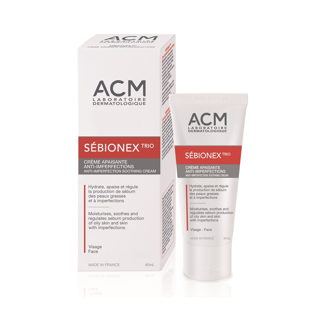Crema calmanta anti-imperfectiuni Sebionex Trio, 40 ml, ACM