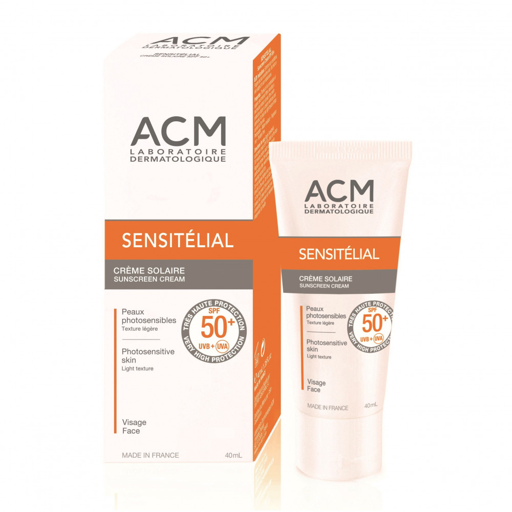 Crema pentru protectie solara SPF 50+ Sensitelial, 40 ml, ACM