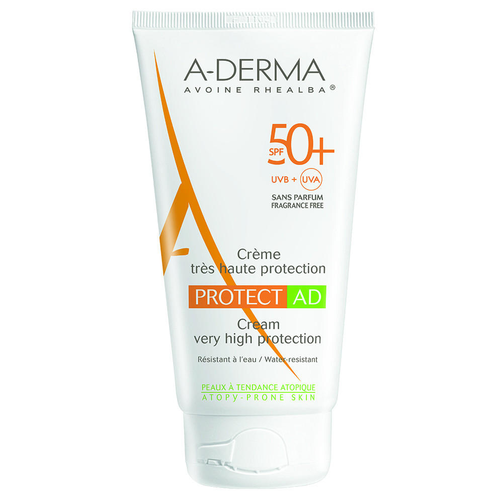 Crema pentru protectia solara a pielii atopice cu SPF 50+, 150 ml, Aderma