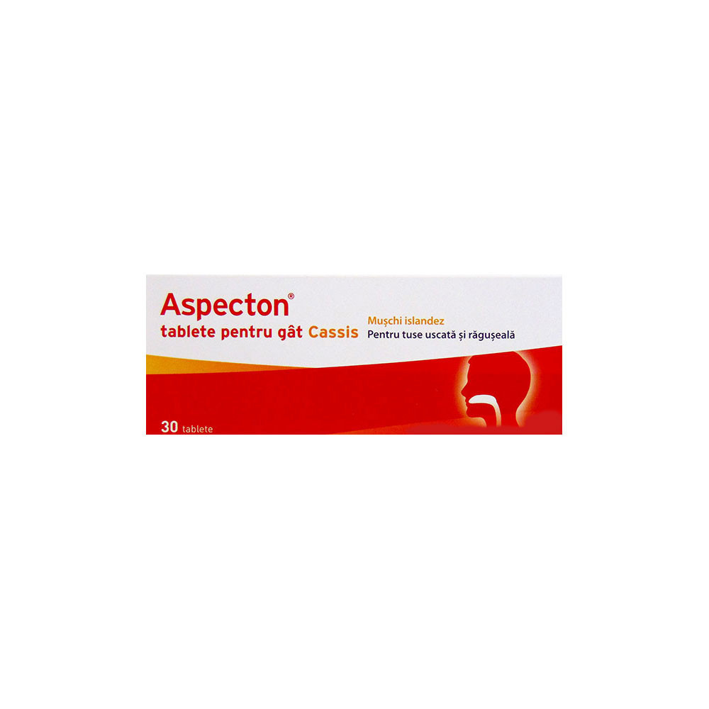 Tablete pentru gat Aspecton Cassis, 30 tablete, Krewel Meuselbach drmax.ro