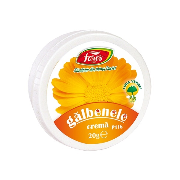 Crema de galbenele, 20 g, Fares imagine produs 2021