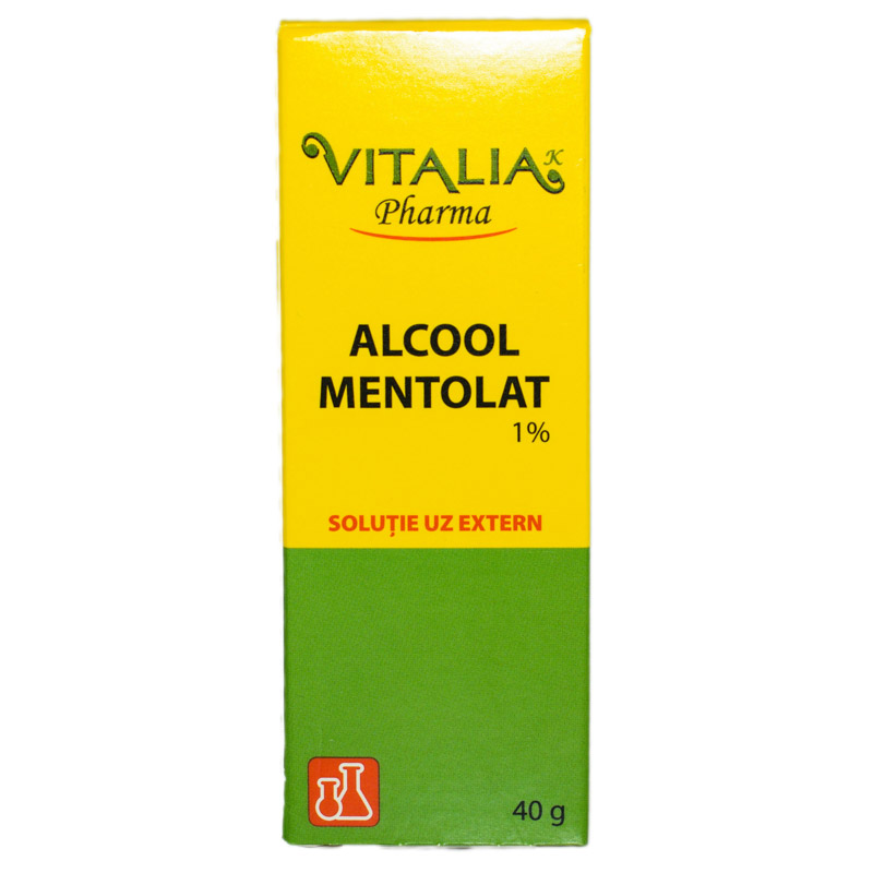 Alcool mentolat 1% Vitalia, 40g, Vitalia imagine produs 2021