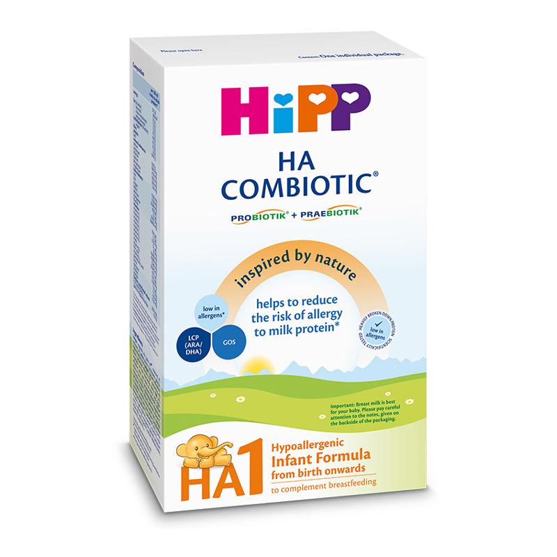 Lapte praf HA 1 Combiotic, lapte de inceput, de la nastere, 350 g, HiPP