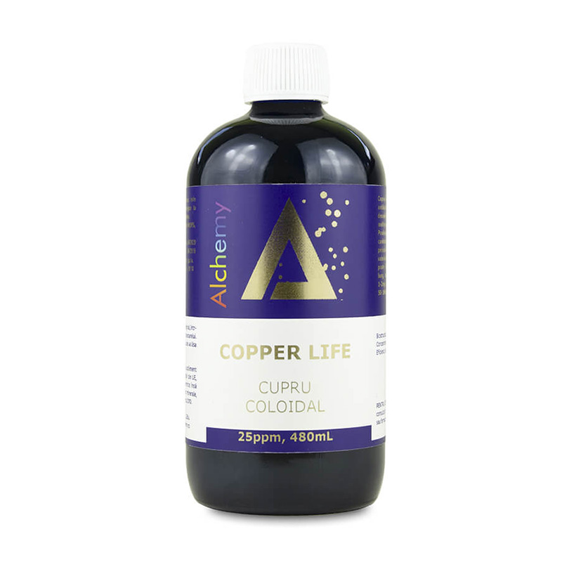 Cupru coloidal Copper Life 25ppm Pure Alchemy, 480ml, Aghoras drmax poza