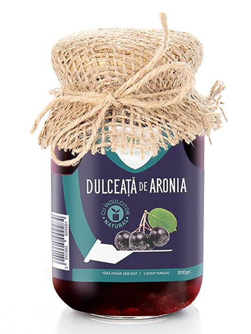 Dulceata de aronia cu indulcitor natural, 300g, Sweeteria drmax poza