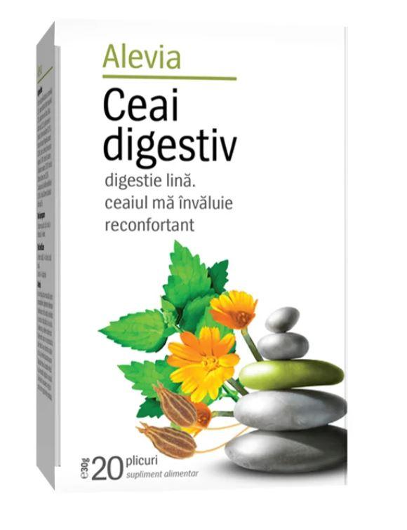 Ceai digestiv, 20 plicuri, Alevia imagine produs 2021