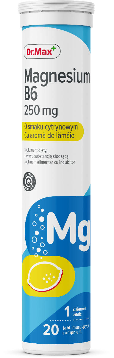 Dr.Max Magnesium B6 250mg, 20 comprimate efervescente imagine produs 2021