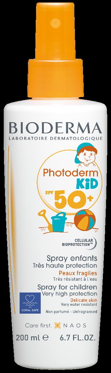 Spray protectie solara pentru copii Photoderm KID, SPF50+, 200ml, Bioderma drmax.ro