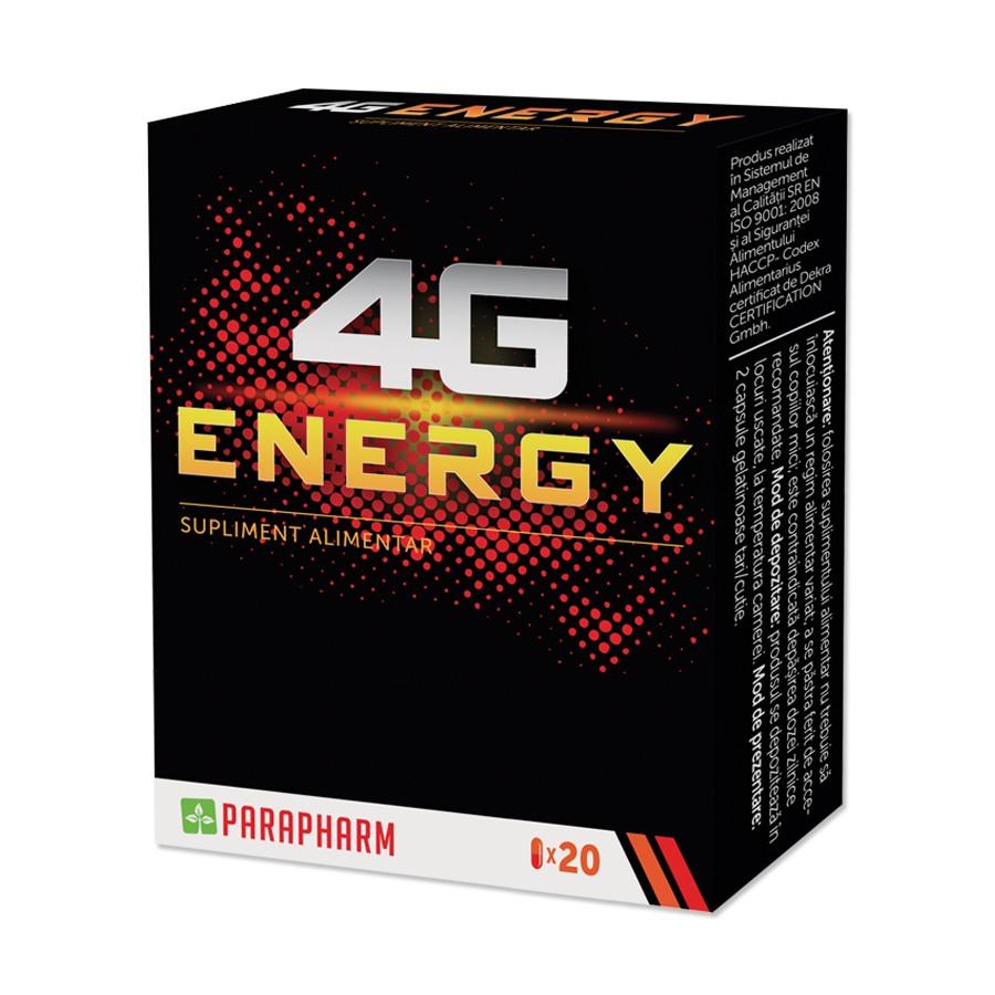 4G Energy, 20 capsule, Parapharm imagine produs 2021