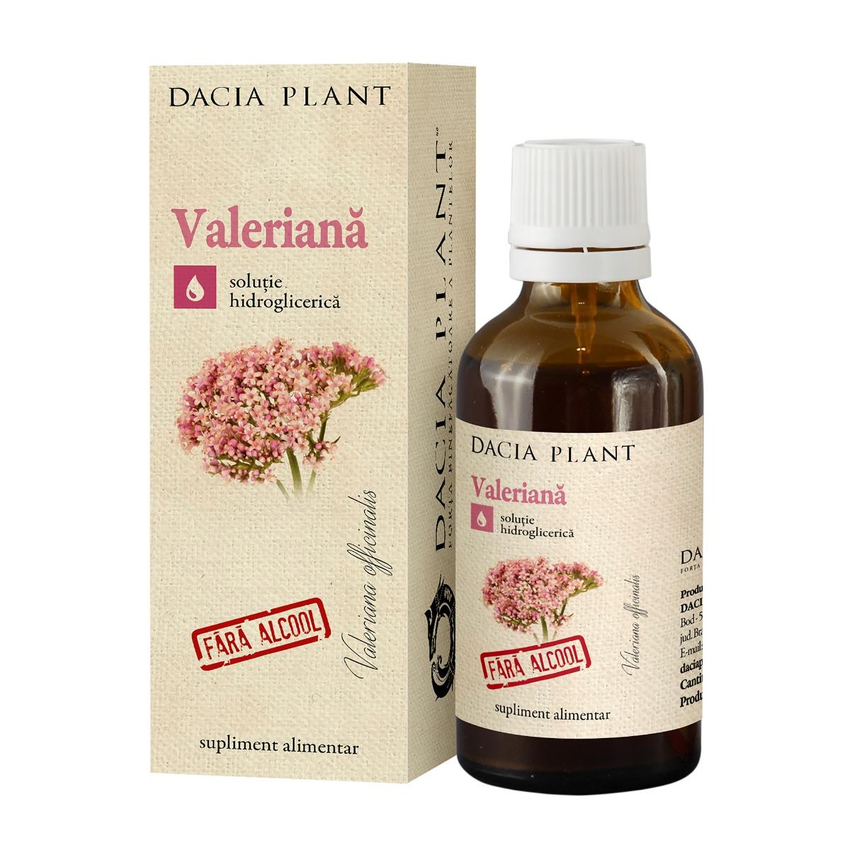 Tinctura de valeriana fara alcool, 50ml, Dacia Plant drmax.ro