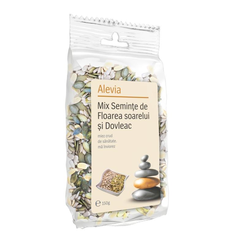 Mix seminte de Floarea soarelui si Dovleac, 150 g, Alevia drmax.ro