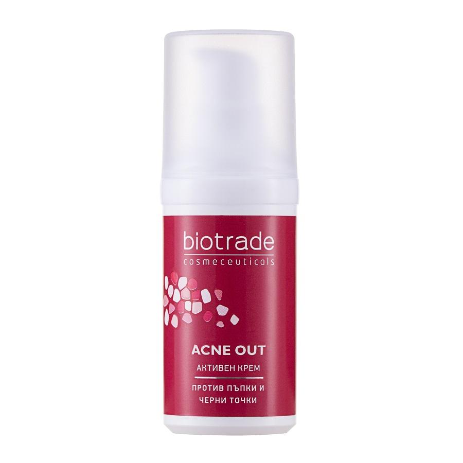Crema ten gras si acneic Acne Out, 30ml, Biotrade drmax.ro