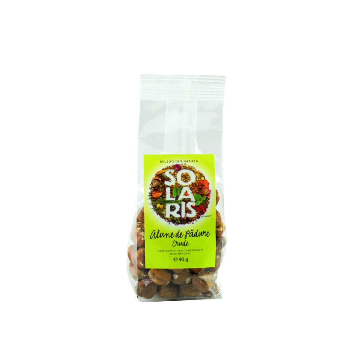 Fructe crude - alune de padure, 90g, Solaris drmax.ro