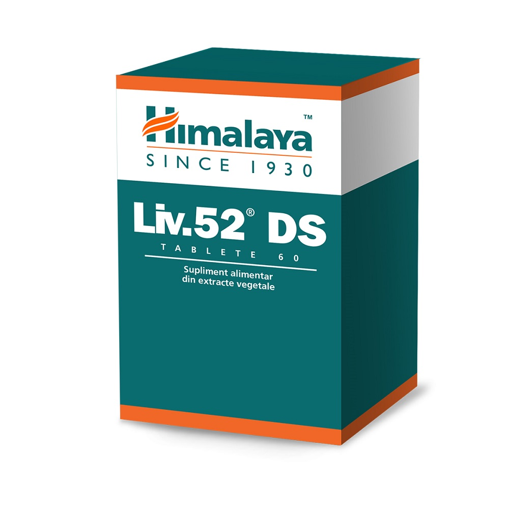 Liv 52 DS, 60 tablete, Himalaya drmax.ro