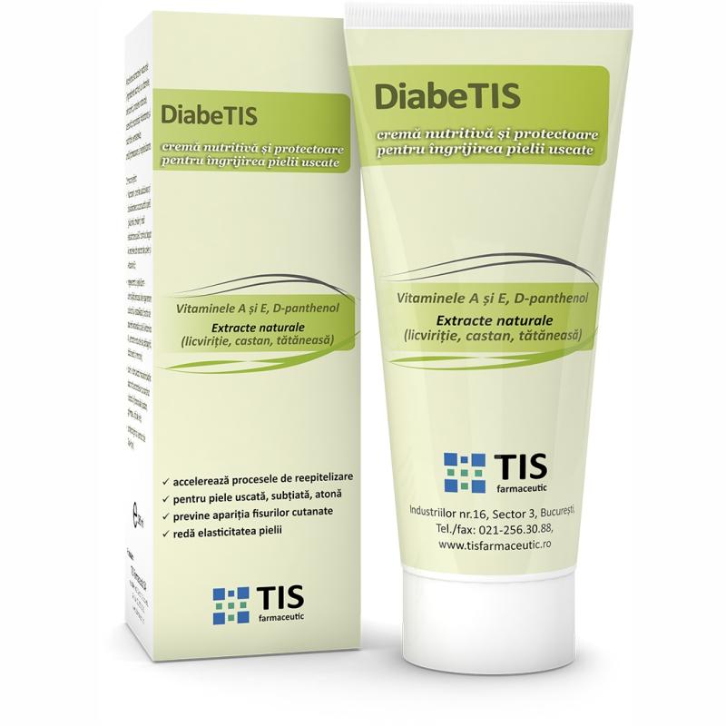 Crema nutritiva si protectoare DiabeTIS, 100ml, Tis Farmaceutic drmax.ro