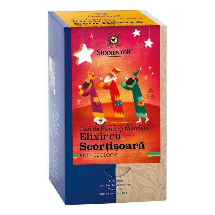Ceai Bio Elixir cu Scortisoara, 18 plicuri, Sonnentor drmax.ro